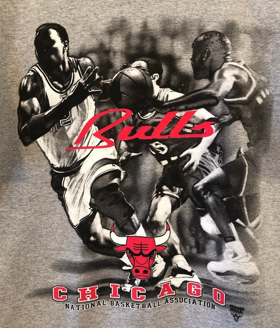 90s Chicago Bulls T-shirt Mens Large