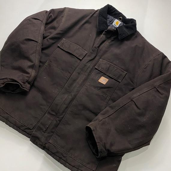 Carhartt Quilt Lined Coat Full Zip Jacket C26-DKB