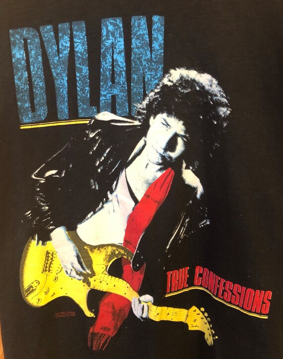 1986 Bob Dylan True Confessions Tshirt Mens Large