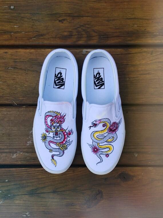 Custom Hand Painted Slip On Vans Shoes