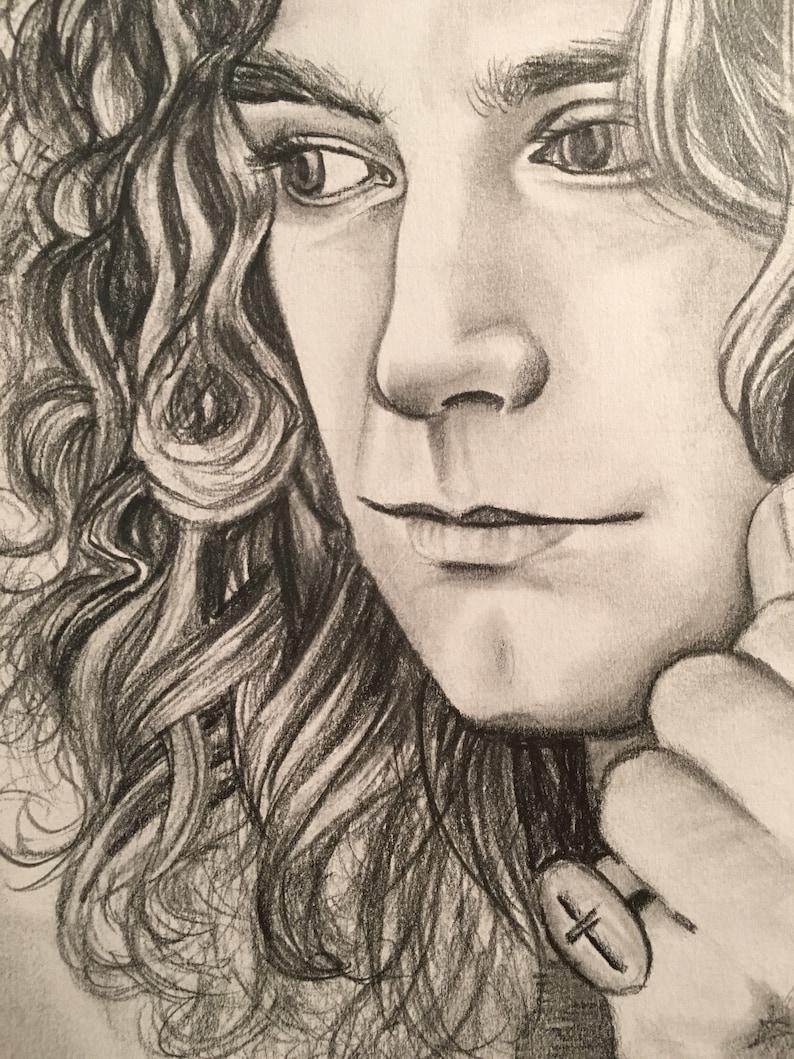 Robert Plant Pencil Drawing Print