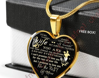 8fcf8b85dee3 To My Wife  Luxury Necklace For Wife From Husband Best