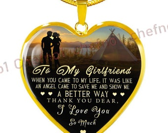 To My Girlfriend Necklace Luxury For Birthday Gift Amazing 391ghg