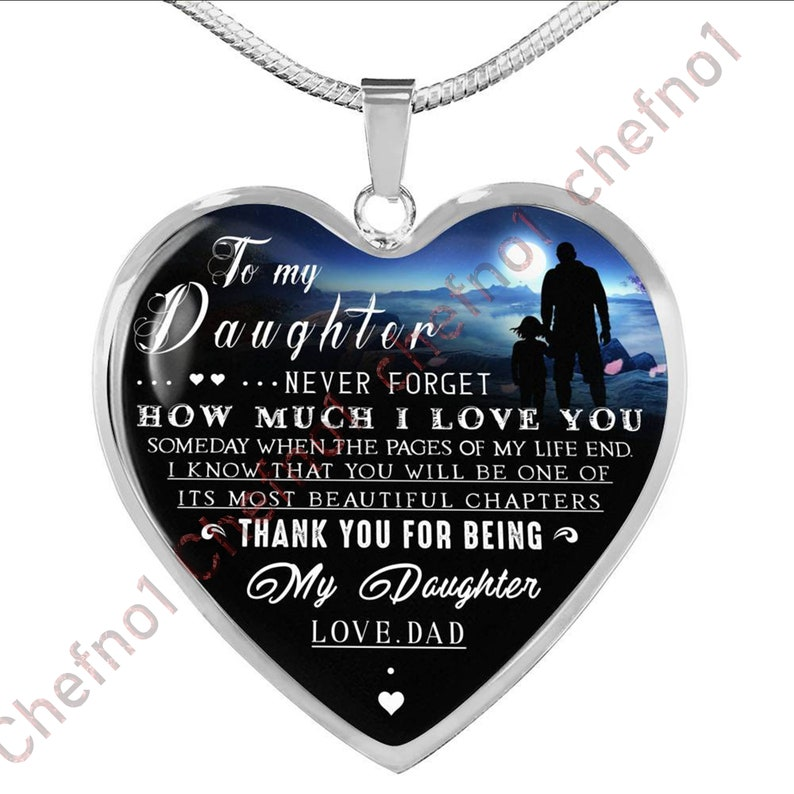 82994581988 To My Daughter Dad And Daughter Necklace Birthday Necklace
