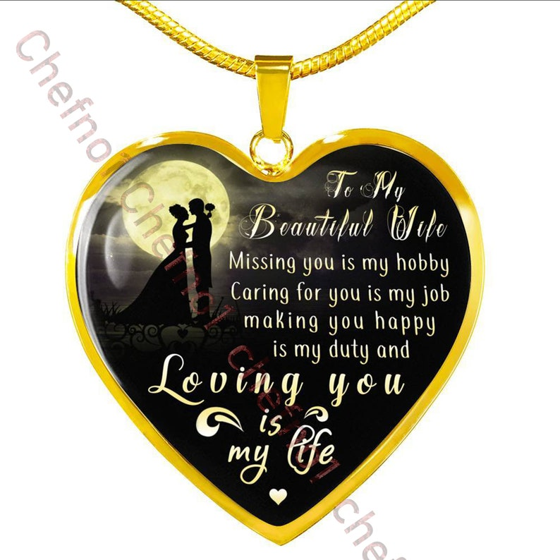 Birthday Gift For Wife Luxury Necklace Husband And