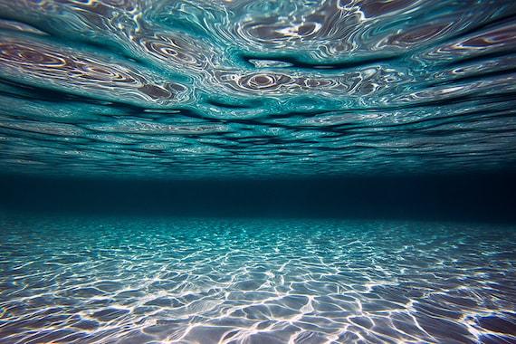 ocean print underwater print underwater wave Ocean photography underwater photo wall art ocean art home decor pristine underwater