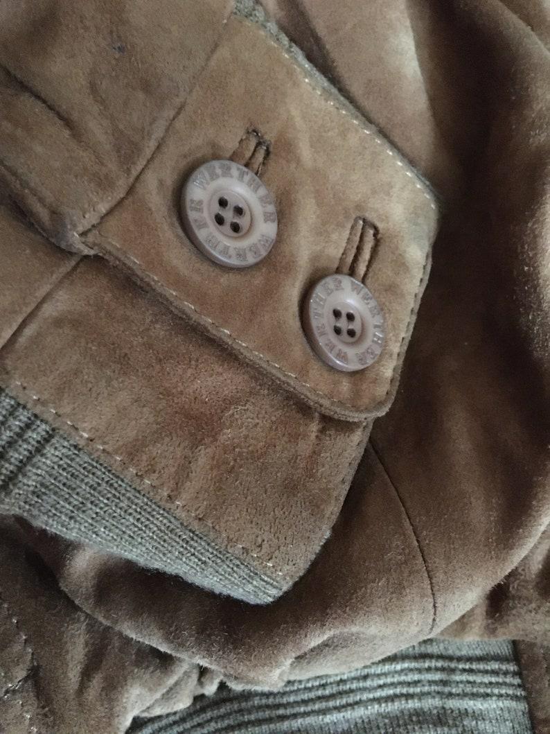 1970s. Vintage Werther International real leather men bomber jacket UK 425 Made in Germany