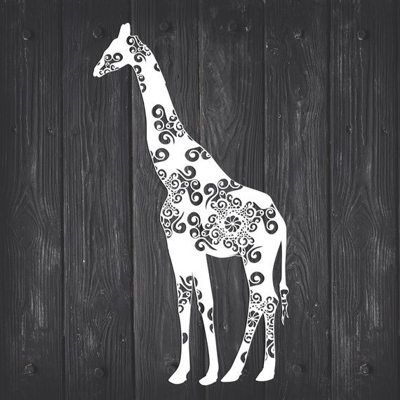 Giraffe Svg Mandala Svg Zentangle Inspired Zoo Animal Etsy