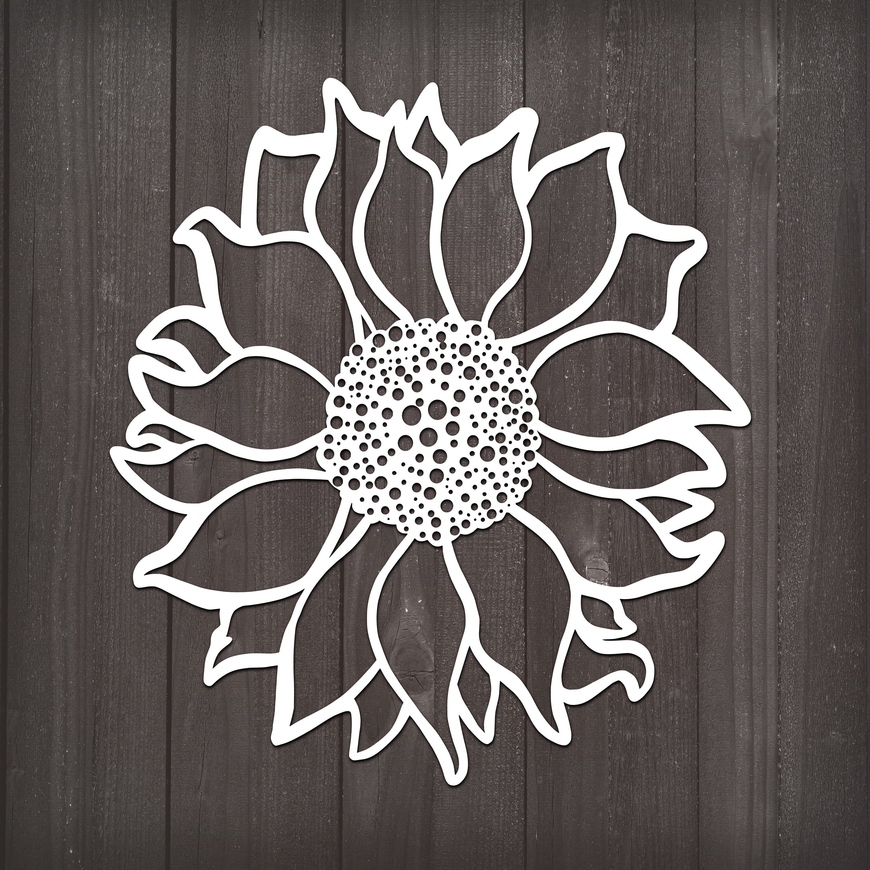Download Sunflower Svg, Flower Svg, Papercut Art, Svg, Svg Files ...