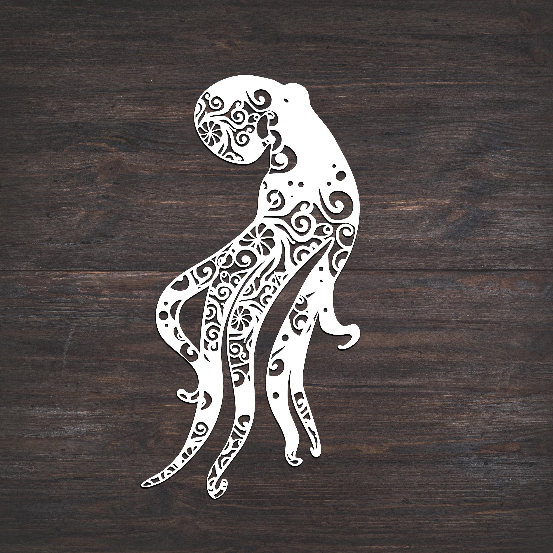 Download Octopus Mandala Svg Free For Cricut - Layered SVG Cut File