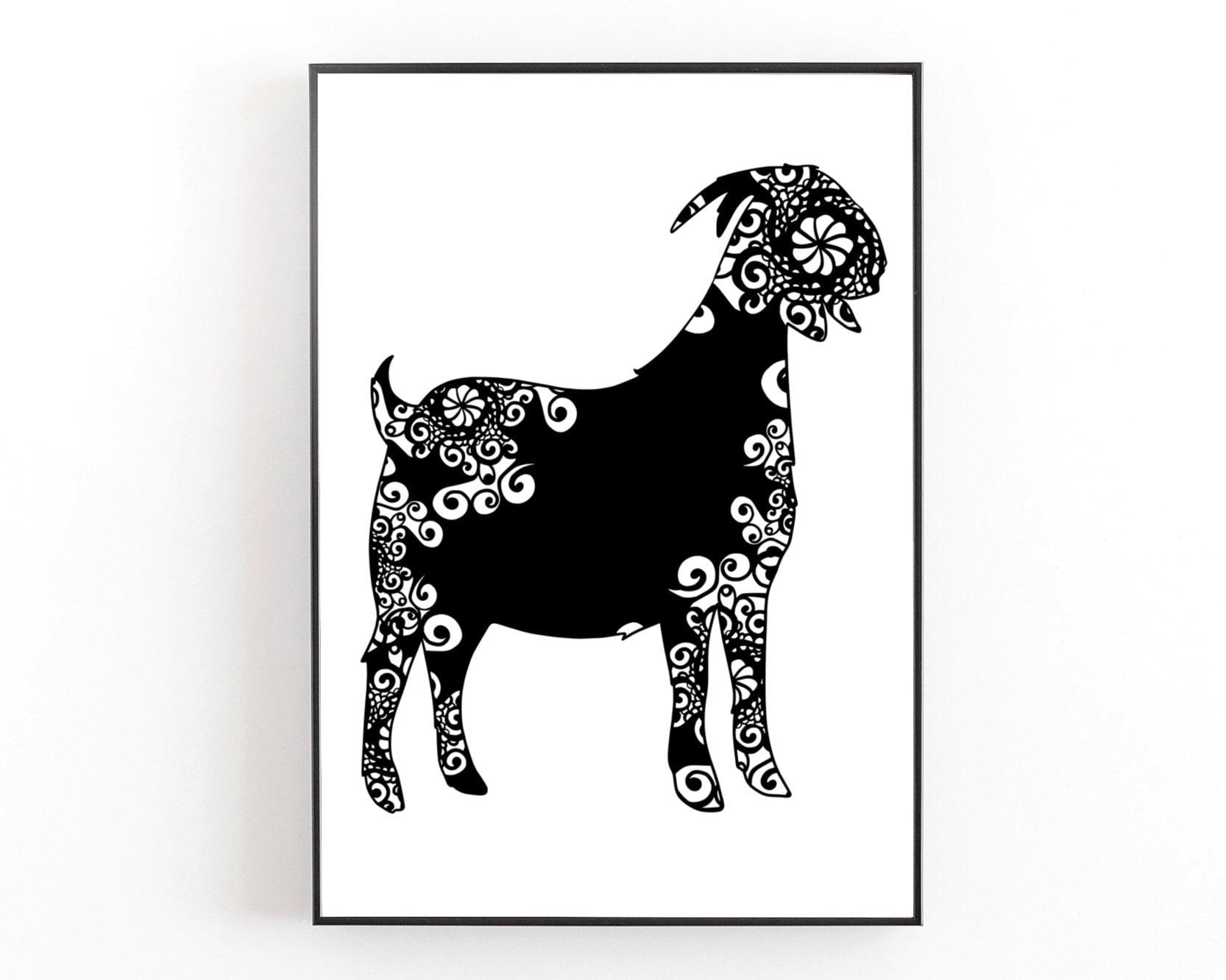 Download Goat Svg, Mandala Svg