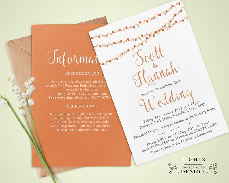 Personalised Wedding Day Invitations Gift Poem Rsvp Fancy Etsy