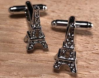 Eiffel Tower French France Cufflinks with Presentation Box