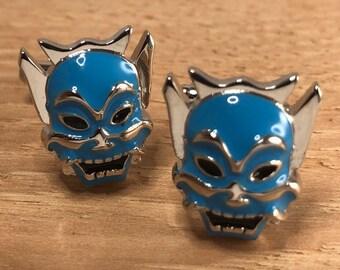 Venetian Mask Cufflinks Pewter UK Handmade Gift 412