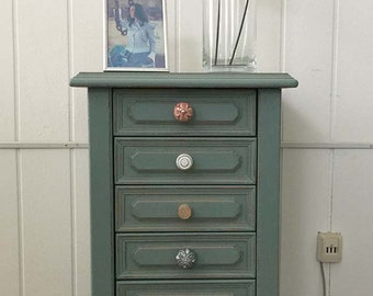 Shabby chic chest of drawers sideboard Highboard cabinet country style nostalgia vintage