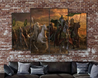 d754b995 Riders of Rohan, Gandalf print, Lord of the Rings, Lord of the Rings print,  Gandalf canvas, Lord of the Rings canvas, LotR canvas, LotR art