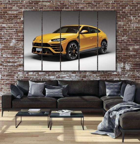 Lamborghini Wall Hole 3D Decal Vinyl Sticker Decor Room Smashed Luxury