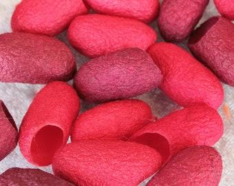 Silk cocoon reds