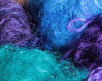 Sari Silk fibers Blue