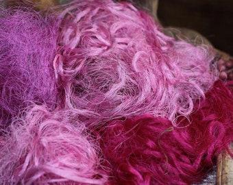 Sari Silk fibres Pink