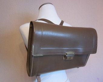 8074a37242ae9 Vintage Ranzen braun Leder 50er 60er Jahre -)