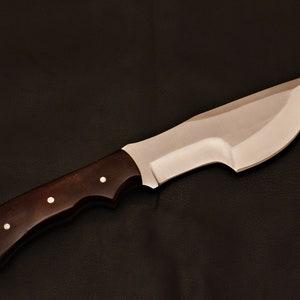 Handmade Tracker Knife 1095 Steel With Leather Sheath Etsy