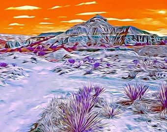 Palo Duro Canyon Photo - Art Series Premium Canvas Print or Matted Metallic Print Wall Art