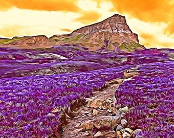 Uncompahgre Trail Photo - Art Series Premium Canvas Print or Matted Metallic Print Wall Art