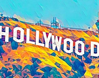 Hollywood Photo - Art Series Premium Canvas Print or Matted Metallic Print Wall Art