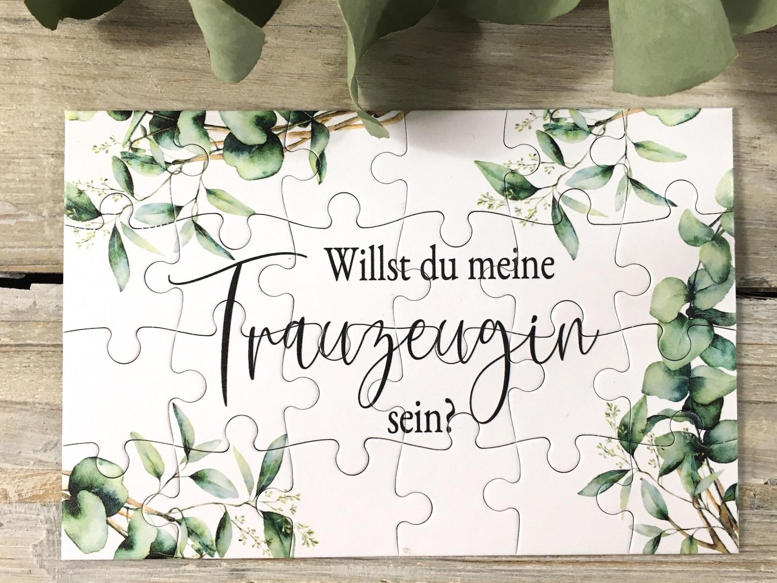 Puzzle Trauzeuge