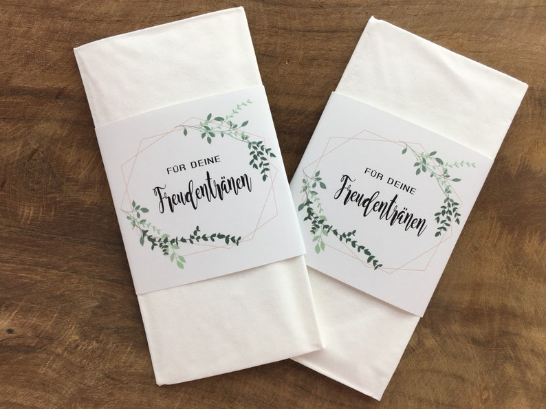 Banderolen für Freudentränen Taschentücher |50 Stück