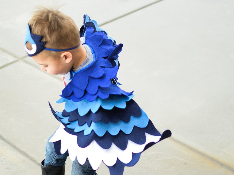 1d77e343c538 Blue Jay Costume Kids Costume Bird Costume Blue Bird Mask
