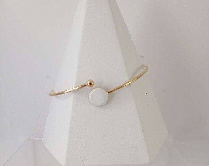 White concrete rush bracelet
