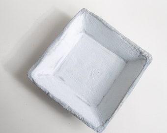 Coupe carrée Trouville - béton gris bleu délavé