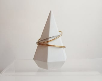 White concrete cone - jewelry holder