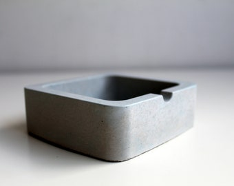Grey concrete ashtray