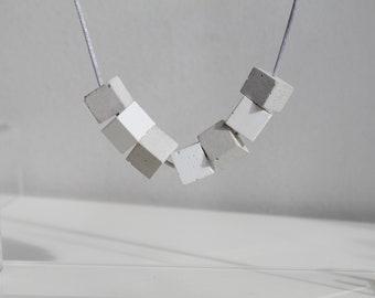 Collier bicolore -  concrete necklace