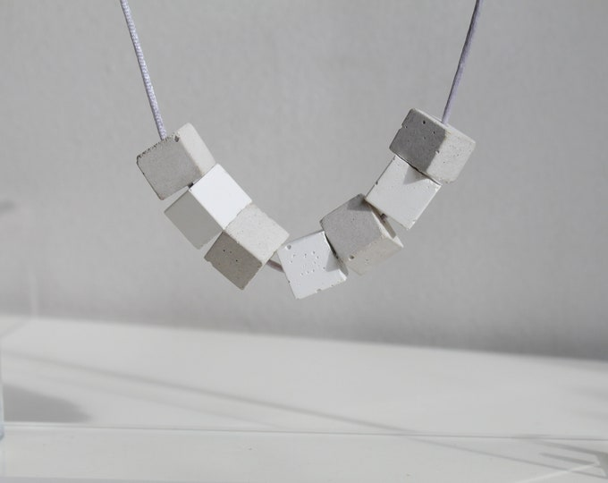 Collier bicolore -  concrete necklace