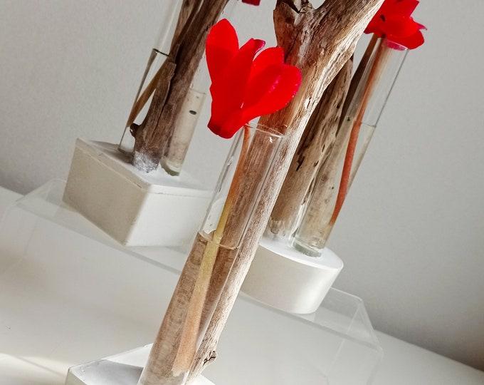 Serie Alliances - Soliflore driftwood and white concrete -
