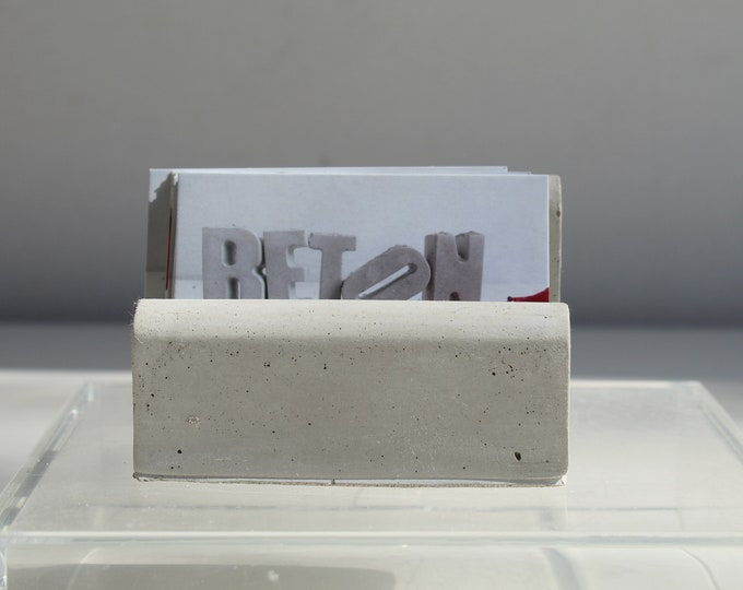 Grey concrete map door - or white concrete
