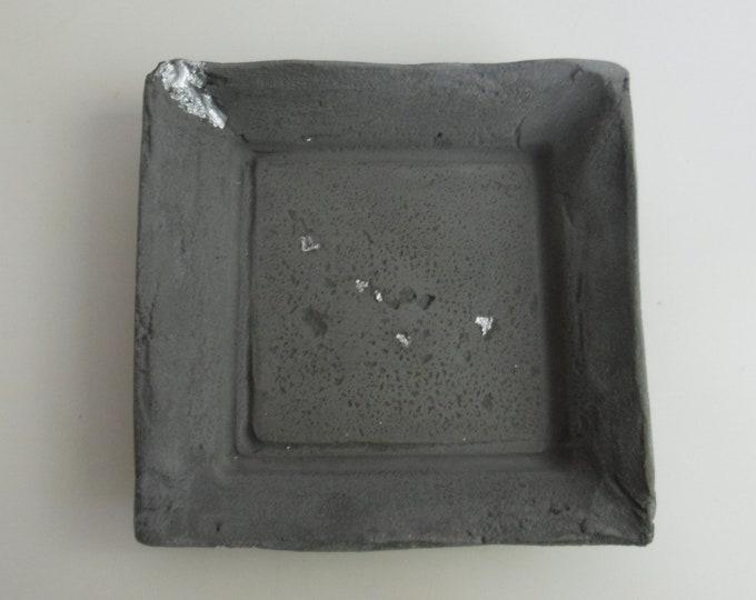 Coupe carrée  Etna - béton gris anthracite, pointé d'argent