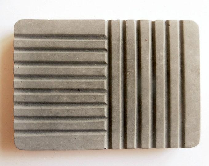 Porte-savon en béton gris accessoire salle de bain