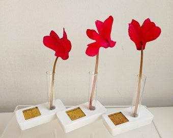 Set of three mini soliflores