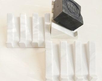 White concrete soap door