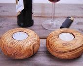 Olive Wood Tealight Holders