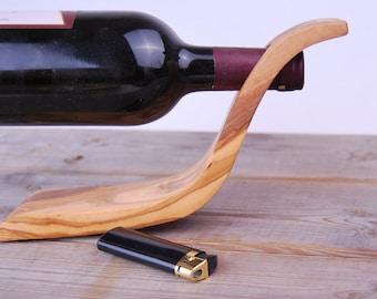 Möbel & Wohnen Weinregal Mit 4-fach Flaschenhalter Und 4cl Dosierer Aus Euro Paletten Bar Holz SchöN In Farbe Kochen & Genießen