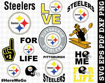 Pittsburgh Steelers Svg NFL Football Files T Shirt Design Cut Print Vector File Logo