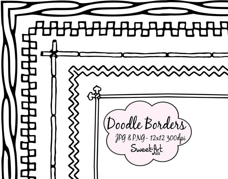 Page Border Border And Frame Clip Art Doodle Border Border