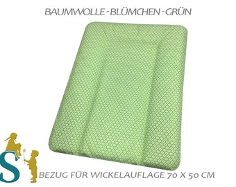 Cover for wrapping pad 50x70-flower-green