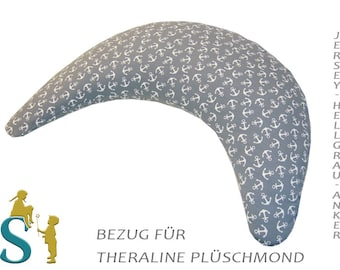 Upholstery for Plush Moon ~ Jersey-Light Grey-anchor ~